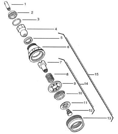 Como usar ac 50 helvex con poca presion de agua for Partes de una regadera