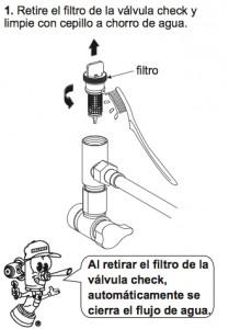 TV-120 Filtro limpieza