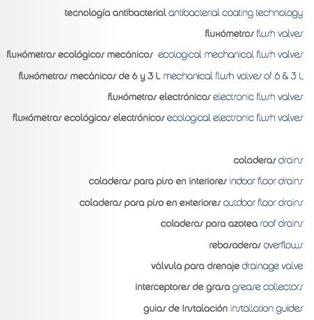 Indice catalogo fluxometros y coladeras